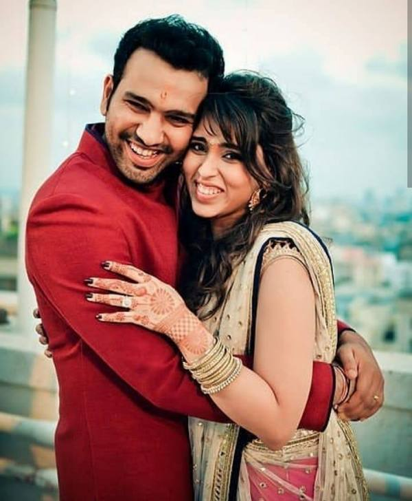 Ritika Sajdeh with Rohit Sharma