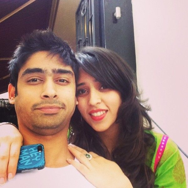 Ritika Sajdeh with her brother