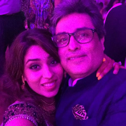 Ritika Sajdeh with her father