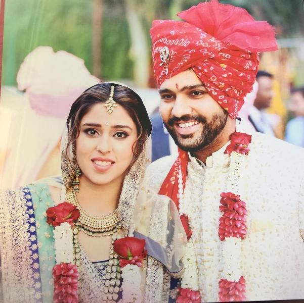 Ritika Sajdeh with her husband