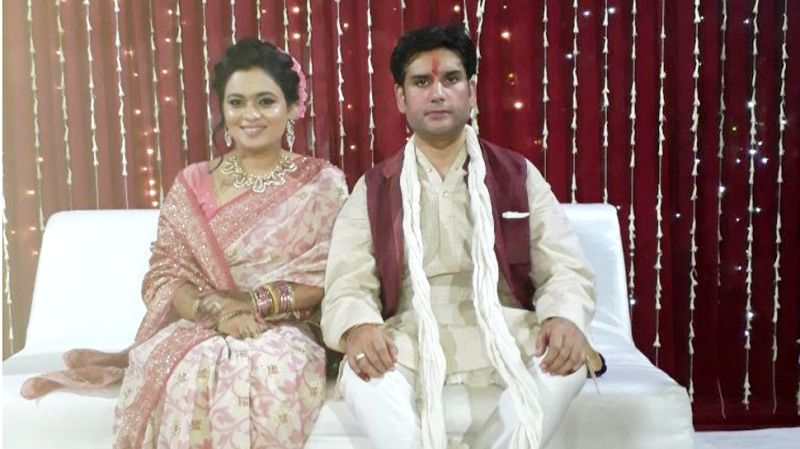 Rohit Shekhar Tiwari With His Wife Apoorva