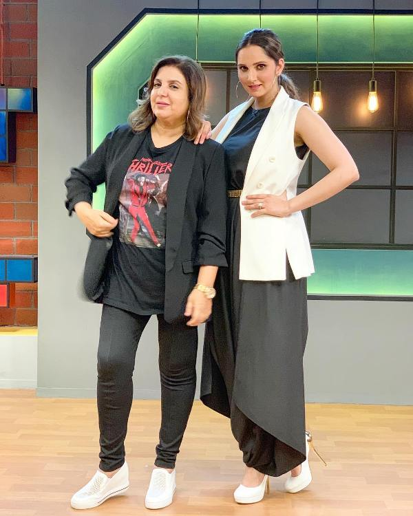 Sania Mirza with Farah Khan