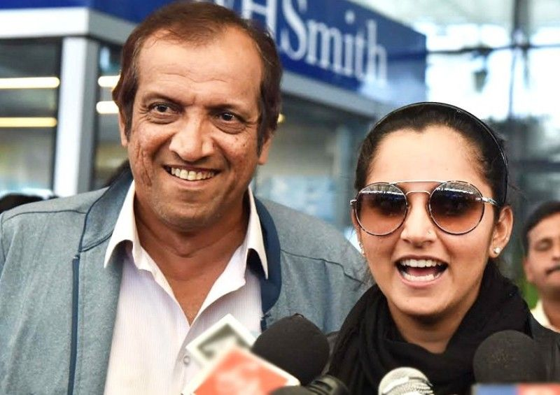 Sania Mirza with her father