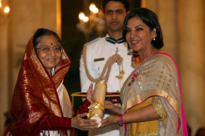 Shabana Azmi Receiving Padma Shri