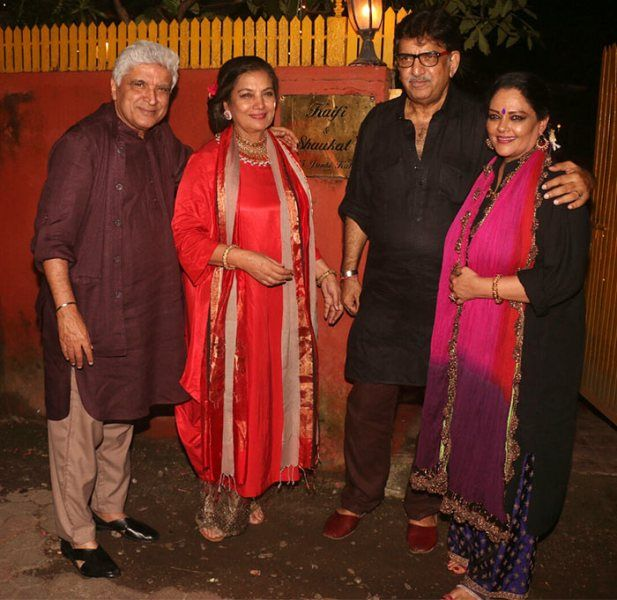 Shabana Azmi With Her Husband Javed Akhtar, her Brother Baba Azmi And Her Sister-In-Law Tanvi Azmi