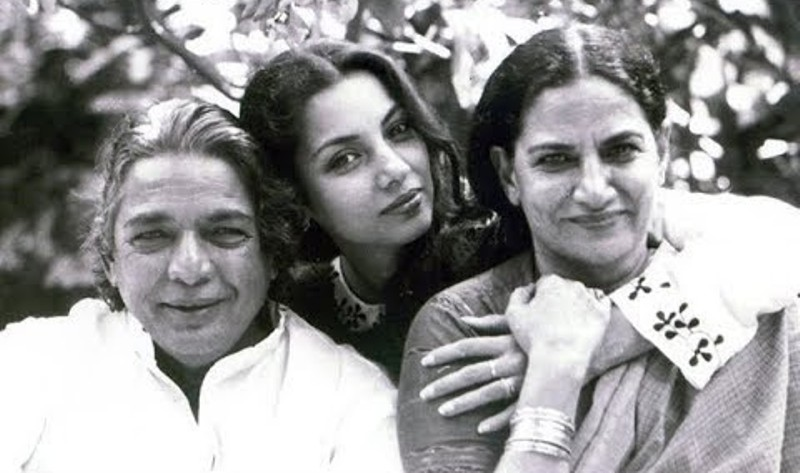 Shabana Azmi With Her Parents