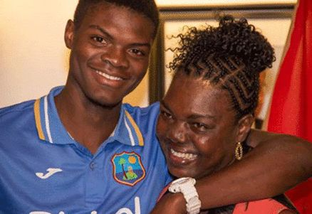 Alzarri Joseph With Sharon Joseph