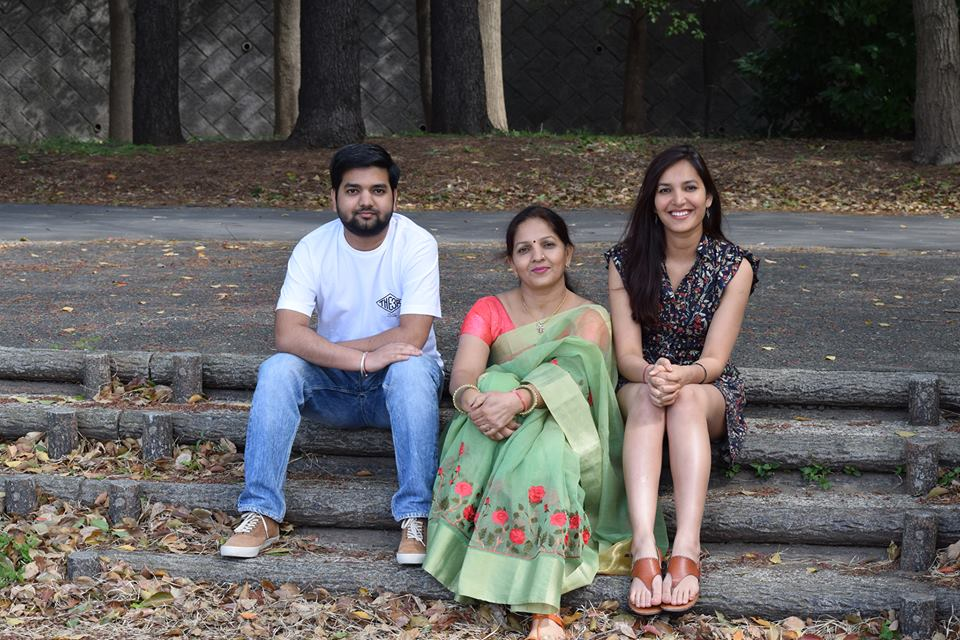 Sonal Chouhan With Her Mother And Brother