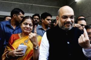 Sonal Shah with Amit Shah