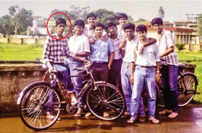 Sundar Pichai during his school days (in red circle)