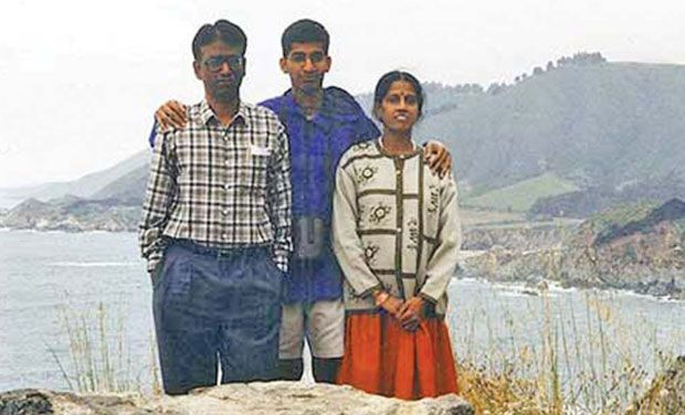 Sundar Pichai with his parents