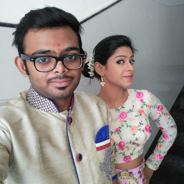 Swarda Thigale with her brother