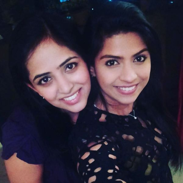 Swarda Thigale with her sister