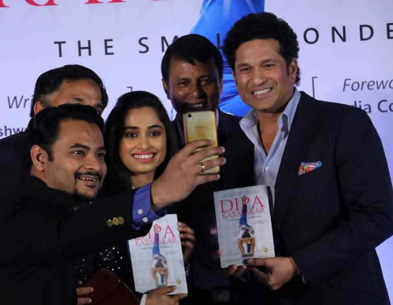 The launch event of Dipa Karmakar's autobiography