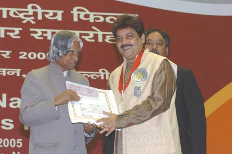 Udit Narayan Receiving National Award