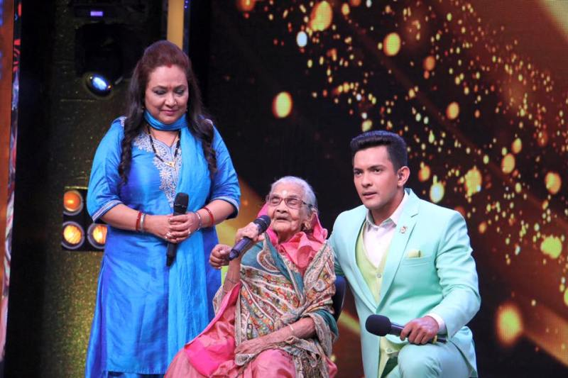 Udit Narayan's Wife Deepa, His Son Aditya, and His Mother Bhuvaneshwari Jha