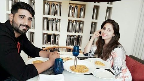 Urmila Matondkar having food