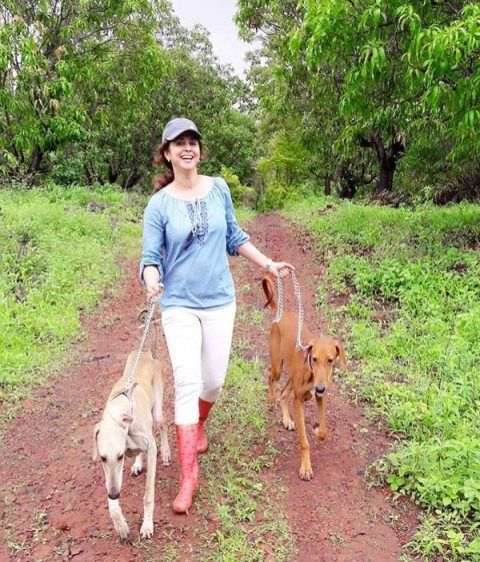 Urmila Matondkar with her pet dogs