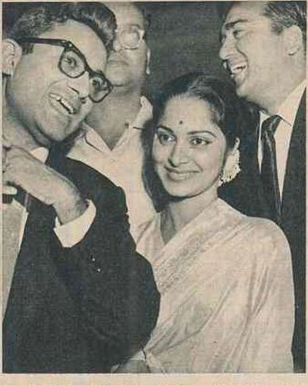 Waheeda Rehman With Dev Anand