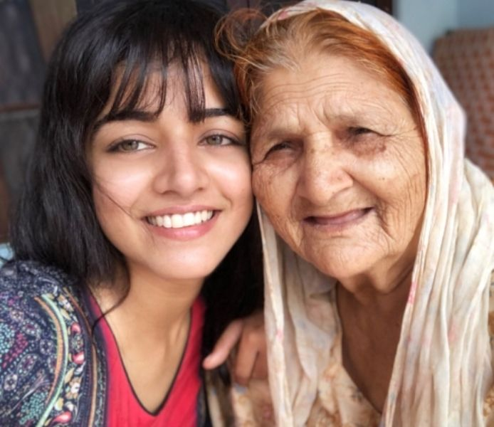 Wamiqa Gabbi with her maternal grandmother