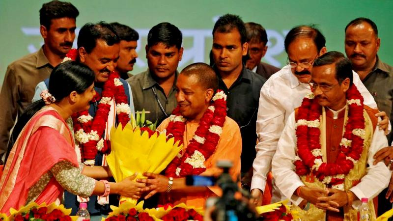 Yogi Adityanath After Being Sworn In As The Chief Minister Of Uttar Pradesh