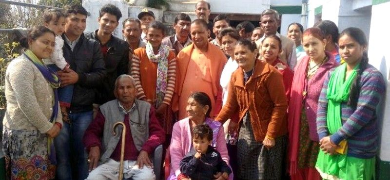 Yogi Adityanath With His Family