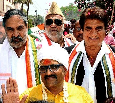 Ajay Rai With Raj Babbar And Anand Sharma