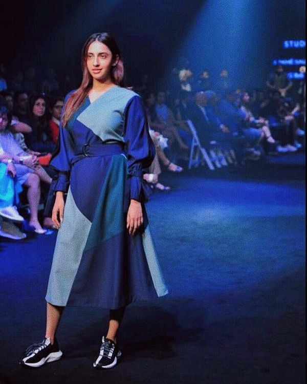 Akansha Ranjan Kapoor walking the ramp for Reebok India