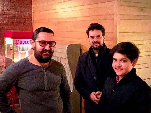 Anurag Thakur With His Son Jaiaditya
