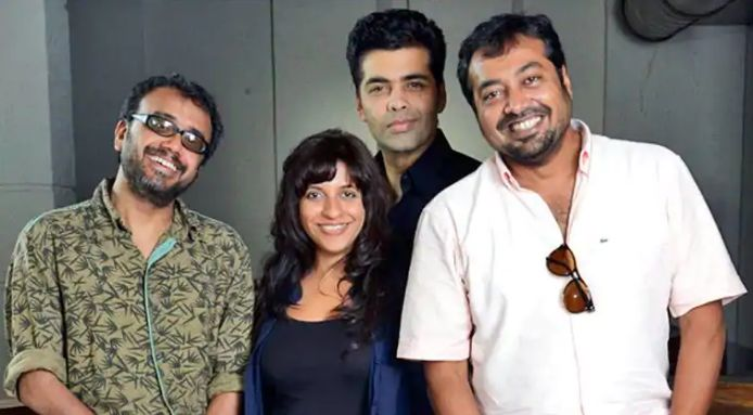 Anurag Kashyap with Zoya Akhtar, Karan Johar and Dibakar Banerjee
