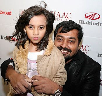 Anurag Kashyap with his daughter