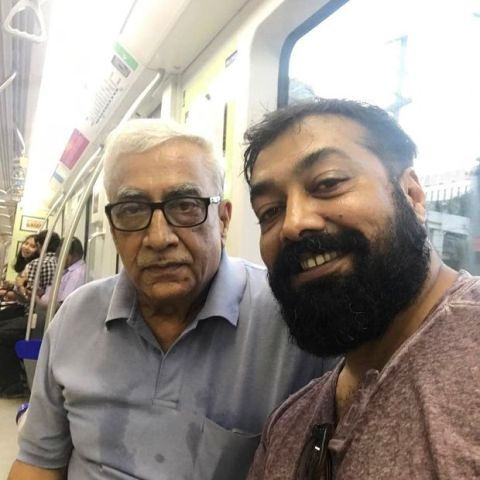 Anurag Kashyap with his father