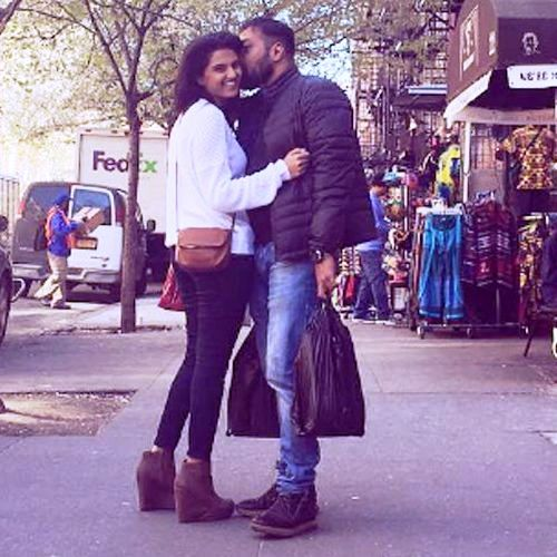 Anurag Kashyap with his girlfriend