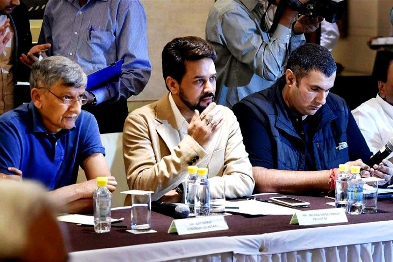 Anurag Thakur Addressing The Media After Stepping Down As BCCI President