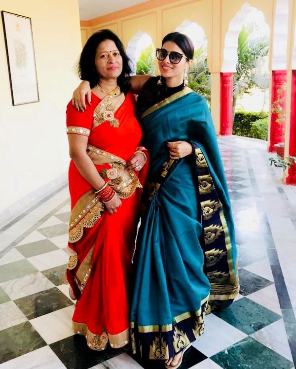 Aparna Dixit with her mother