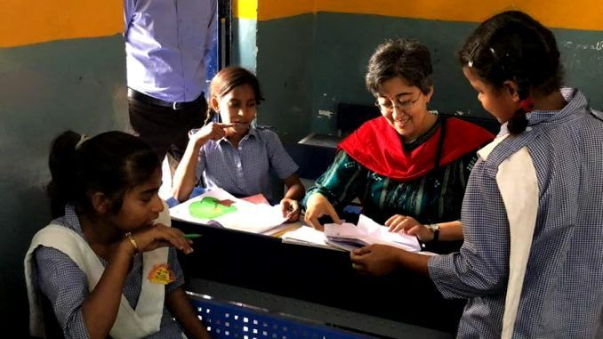 Atishi Marlena With School Kids