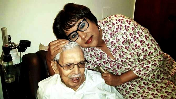 Barkha Dutt With Her Father S.P. Dutt