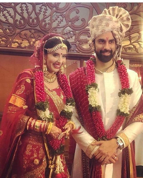 Charu Asopa and Rajeev Sen at their wedding