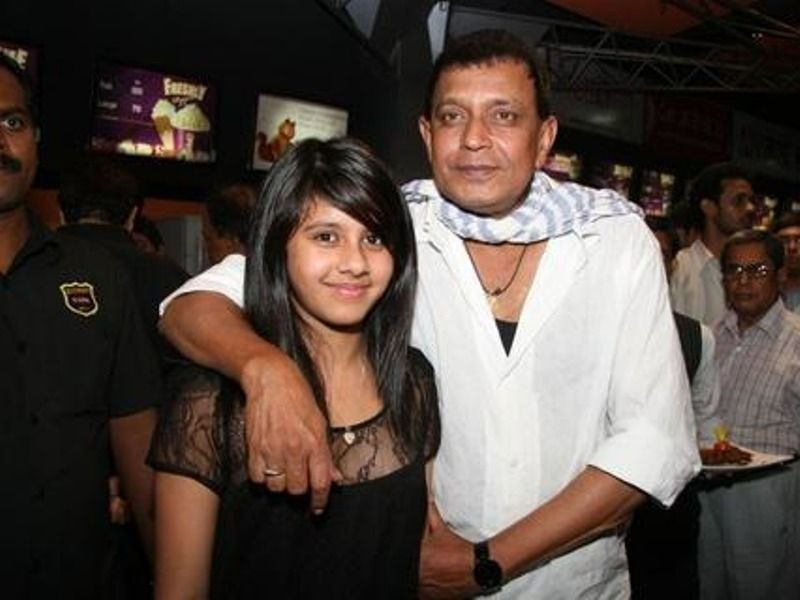 Dishani Chakraborty With Her Father, Mithun
