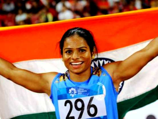 Dutee Chand After Breaking The National Record