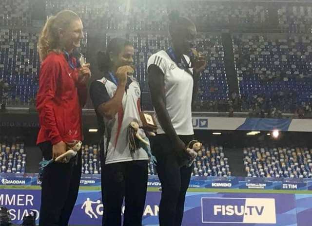 Dutee Chand At The World Universiade