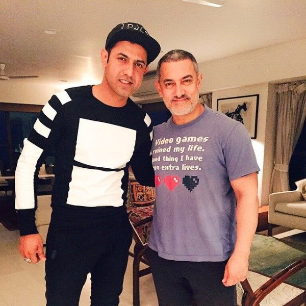 Gippy Grewal with Aamir Khan