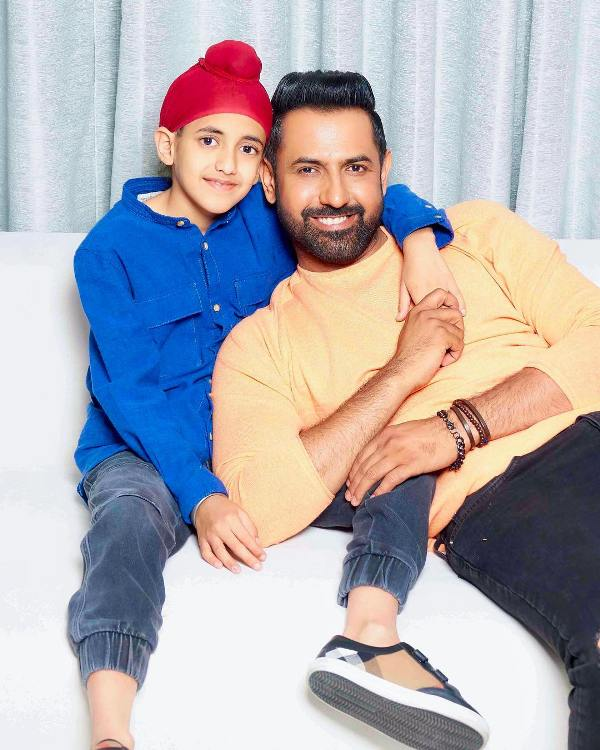 Gippy Grewal with his son Ekomkar
