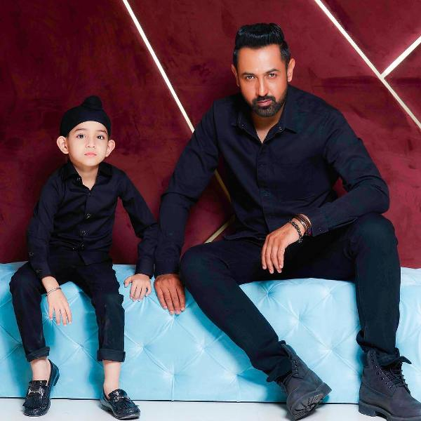Gippy Grewal with his son Shinda