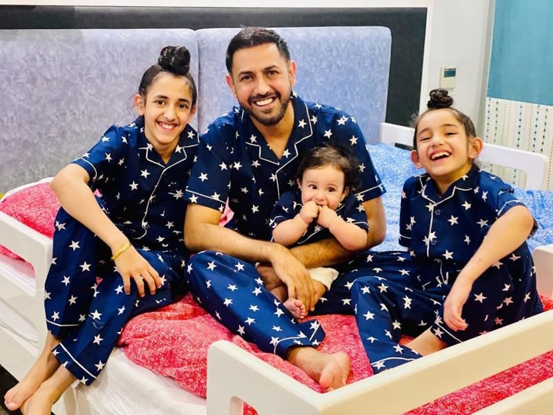 Gippy Grewal with his three sons