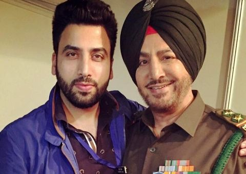Gurdas Maan with his son