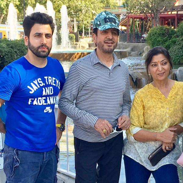 Gurdas maan with his wife and son