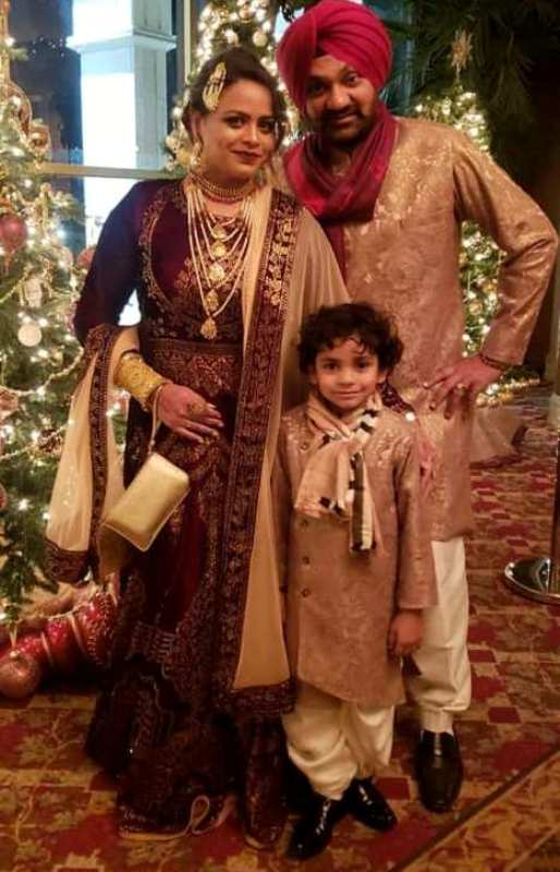 Gurlej Akhtar With Husband, Kulwinder Kally And Her Son Daanveer
