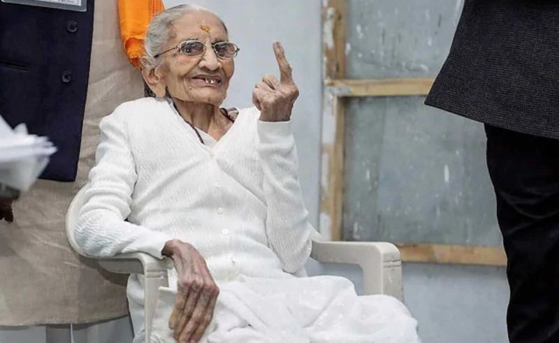 Heeraben Modi after Casting Her Vote In 2019 Elections