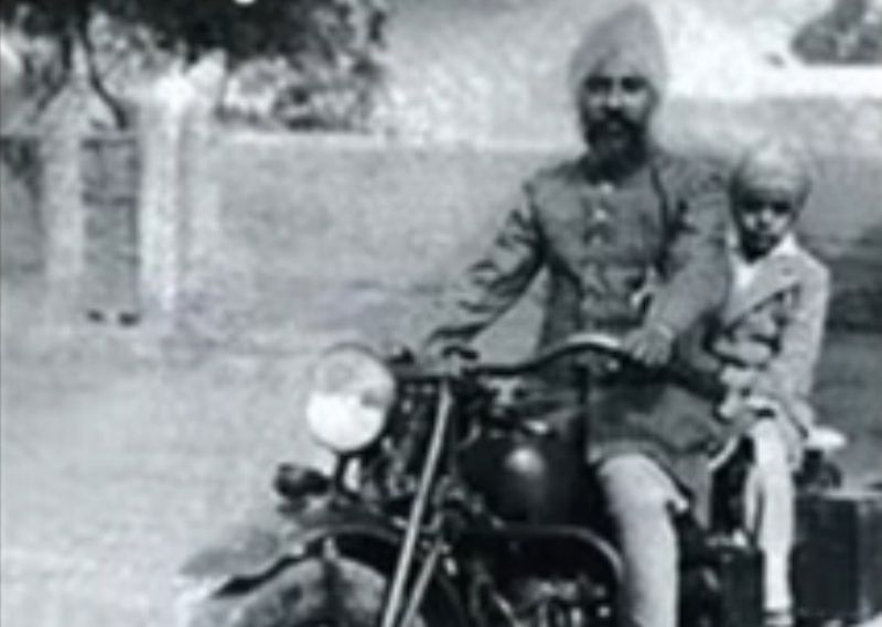 Jagjit Singh With His Father, Sardar Amar Singh Dhiman